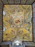 Frescoes at ceiling of Court Chapel in Neuburg Castle in Neuburg an der Donau, Germany. Neuburg an der Donau, Germany. Frescoes at the ceiling of Court Chapel in royalty free stock photography