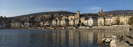 Neuchatel panoramic Stock Photography