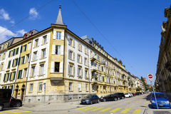 Neuchatel, view of residential buildings Stock Image