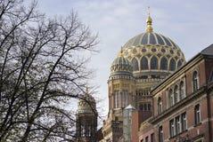 Neue犹太教堂在柏林,热尔迈 免版税库存图片