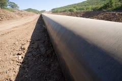 Neue Ölpipeline Stockfotos