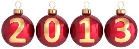Neue 2013-jährige Flitter Weihnachtskugeln Lizenzfreies Stockbild