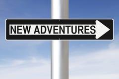 Neue Abenteuer lizenzfreie stockfotos