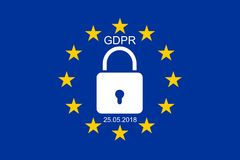 Neue allgemeine Daten-Schutz-Regelung EUÂS stockbild