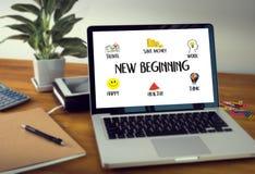 Neue Anfang-Lösung für Ziele beginnen Ihren Lebenlebensstil zu sein Stockbild