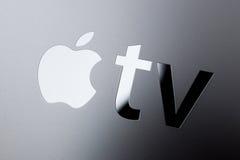 Neue Apple Fernsehmedien, die Spieler microconsole strömen Stockfotos