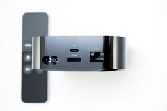 Neue Apple Fernsehmedien, die Spieler microconsole strömen Stockbilder