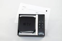 Neue Apple Fernsehmedien, die Spieler microconsole strömen Stockfotografie