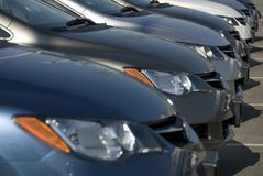 Neue Autos Stockbild