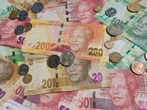Neue Banknoten - Südafrika Lizenzfreie Stockfotos