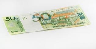 Neue belarussische fünfzig Rubel lizenzfreie stockfotos
