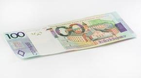 Neue belarussische hundert Rubel Stockfotos