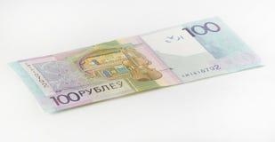 Neue belarussische hundert Rubel Stockbild