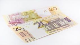 Neue belarussische zwanzig Rubel lizenzfreie stockfotografie