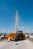 Neue Belgrad-Brücke auf Fluss Sava 16 Stockfoto