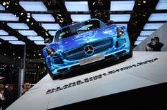 Neue Benzautos in der Show Stockfoto