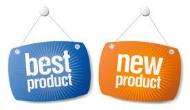 Neue beste Produkt-Zeichen Stockfoto
