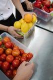 Neue Bestimmung des Gemüsefruchtspeicher-Restaurants Stockfotografie
