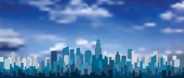 Neue blaue Turmwolken Stockfoto