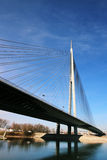 Neue Brücke in Belgrad, Serbien Stockbild
