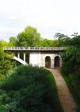 Neue Brücke Besalu Stockbild