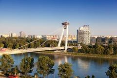 Neue Brücke in Bratislava Lizenzfreies Stockbild
