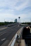 Neue Brücke in Bratislava Lizenzfreies Stockfoto