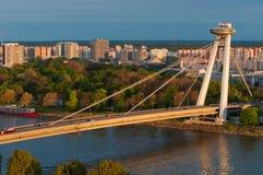 Neue Brücke, Bratislava, Slowakei Stockbild