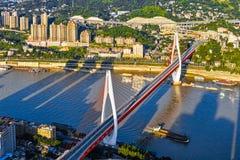 Neue Brücke in Chongqing Stockfotos