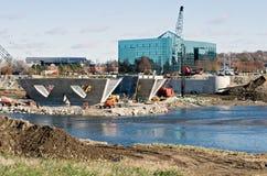 Neue Brücke Contruction Stockfotos
