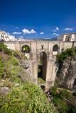 Neue Brücke in Ronda, Andalusien, Spanien Lizenzfreie Stockfotos