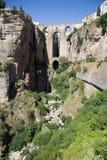 Neue Brücke in Ronda, Spanien Stockbild