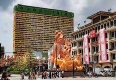 Neue Brücken-Straße in Chinatown, Singapur lizenzfreie stockfotografie