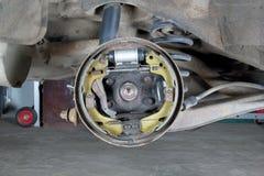 Neue Bremsbeläge und Zylinder Lizenzfreies Stockfoto