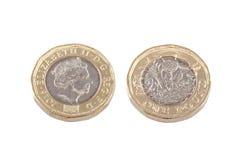 Neue Briten eine Pfundmünze Stockbild