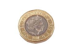 Neue Briten eine Pfundmünze Lizenzfreie Stockbilder