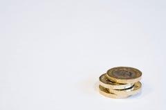 Neue Briten 1 Pfund-Münzen Stockfotografie