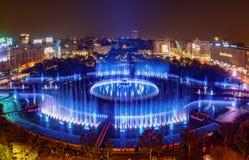 Neue Brunneneinweihung Apa-Novas in Bukarest stockfoto