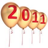 Neue Dekoration mit 2011 Jahrballonen Lizenzfreies Stockbild