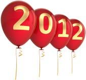 Neue Dekoration mit 2012 Jahrballonen Stockbilder