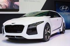 Neue denkende neue Möglichkeiten Hyundai-Konzeptes an der 30. internationalen Bewegungsausstellung Thailands am 3. Dezember 2013 i stockfotografie