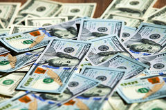 Neue 100 Dollarscheine Lizenzfreie Stockfotografie