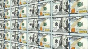 Neue 100 Dollarscheine in der Perspektive des Abstandes 3d Lizenzfreie Stockfotos