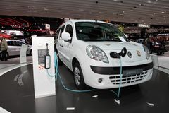 Neue elektrische Renault Kangoo Lizenzfreie Stockbilder