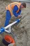 Neue Entwässerung Stockfoto