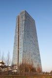 Neue Europäische Zentralbankin Frankfurt Lizenzfreie Stockbilder