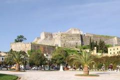 Neue Festung auf der Insel von Korfu lizenzfreies stockbild