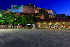 Neue Festung nachts, Kerkyra, Korfu Lizenzfreie Stockfotografie