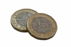 Neue Frage eine Pfundbi-Farbmünzen lizenzfreie stockfotografie