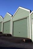 Neue Garagen Stockfoto